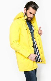 Желтая куртка с капюшоном Hilfiger Denim