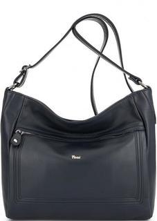 Синяя кожаная сумка через плечо Bruno Rossi