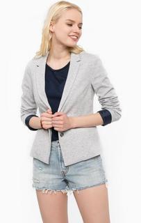 Хлопковый пиджак серого цвета Hilfiger Denim