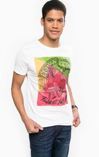 Хлопковая футболка с ярким принтом Scotch&Soda