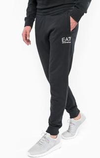 Хлопковые брюки на резинке EA7