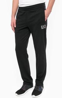 Черные хлопковые брюки EA7