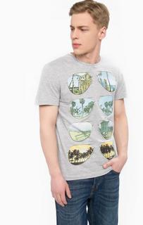 Серая хлопковая футболка Blend