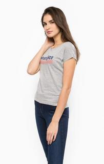 Серая футболка с круглым вырезом Wrangler