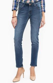 Синие зауженные джинсы Lee