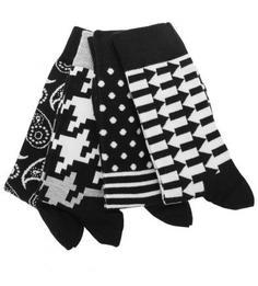 Комплект из четырех пар хлопковых носков Happy Socks