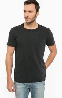 Черная футболка из хлопка Lee