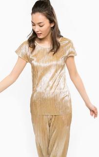 Блуза золотистого цвета с круглым вырезом Rich&Royal
