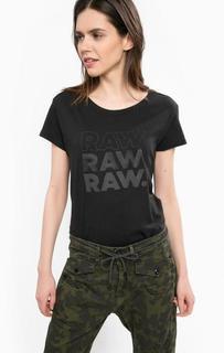 Черная хлопковая футболка G Star RAW