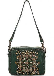 Зеленая кожаная сумка Campomaggi