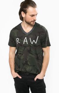 Хлопковая футболка в круглым вырезом G Star RAW