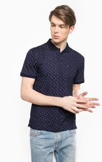 Хлопковая футболка поло с контрастным принтом Hilfiger Denim