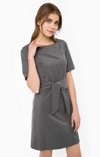 Трикотажное серое платье More & More