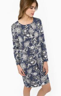 Платье из вискозы с цветочным принтом Ichi