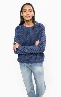 Хлопковый свитер с круглым вырезом Hilfiger Denim