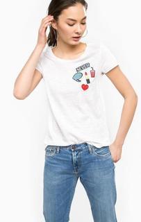 Белая хлопковая футболка Rich&Royal