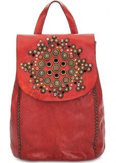 Кожаный рюкзак с металлическим декором Campomaggi
