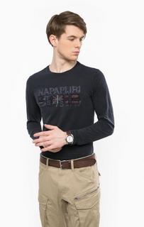 Синяя футболка с нашивками Napapijri