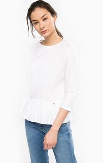 Белая блуза с баской Rich&Royal