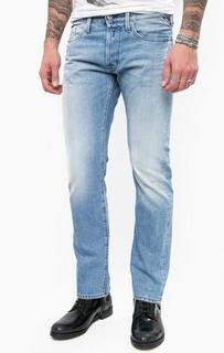 Прямые джинсы с потертостями Replay