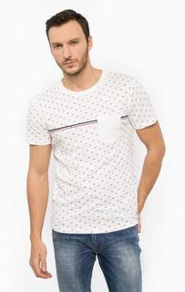 Белая футболка из хлопка Tom Tailor Denim