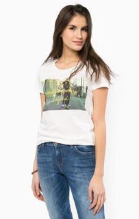 Хлопковая футболка с принтом Lee