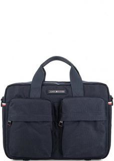 Текстильная сумка через плечо с карманами Tommy Hilfiger