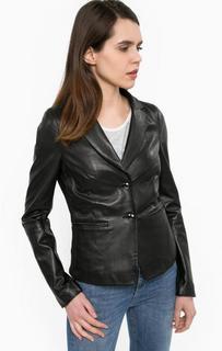 Кожаный пиджак на пуговицах Liu Jo