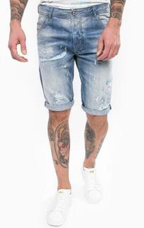 Рваные джинсовые шорты Diesel