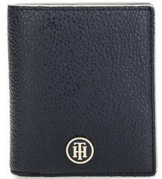 Синее портмоне с логотипом бренда Tommy Hilfiger