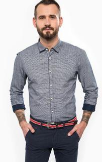 Приталенная рубашка из хлопка в полоску Tom Tailor Denim