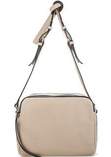Бежевая кожаная сумка на молниях Gianni Chiarini