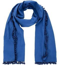 Синий хлопковый шарф Kocca
