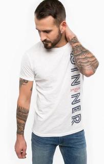 Белая футболка с круглым вырезом Tom Tailor Denim