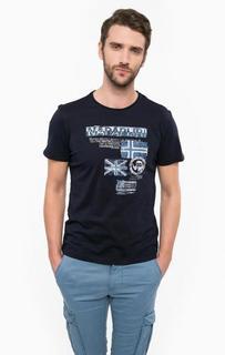 Хлопковая футболка с круглым вырезом Napapijri