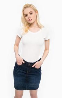 Белая хлопковая футболка Mustang
