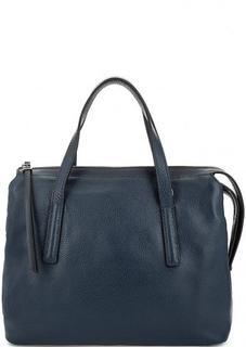 Синяя сумка с двумя отделами на молнии Gianni Chiarini