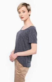 Синяя футболка с круглым вырезом Ichi