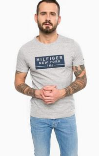 Серая хлопковая футболка Tommy Hilfiger