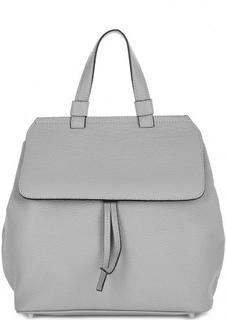 Сумка-рюкзак из мягкой кожи серого цвета Abro