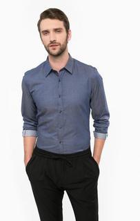 Синяя приталенная рубашка Antony Morato