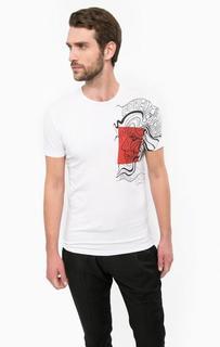 Белая хлопковая футболка Antony Morato