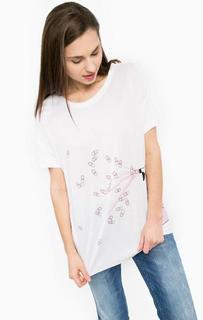 Белая футболка из вискозы Silvian Heach