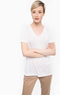 Белая футболка с треугольным вырезом Ichi