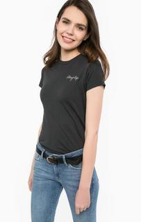 Черная футболка с вышивкой Levis®