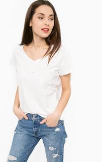 Рваная хлопковая футболка Silvian Heach