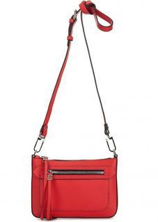Кожаная сумка чере плечо с карманом Gianni Chiarini