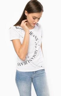 Хлопковая футболка с короткими рукавами Armani Jeans