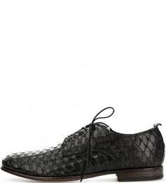Кожаные туфли дерби черного цвета Moma