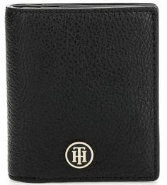 Черное портмоне с логотипом бренда Tommy Hilfiger